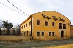 Typowa wytwórnia win w Haro, Rioja Fotografia Stock