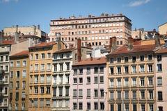 Typowe fasady domy w Lion, Francja obraz stock