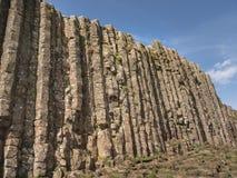 Typowe rockowe formacje giganta drogi na grobli w Północnym - Ireland obrazy stock