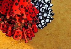 Typowe suknie, jarmark w Seville, Andalusia, Hiszpania Zdjęcia Royalty Free