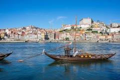 Typowe wino łodzie w Douro rzece Zdjęcia Royalty Free