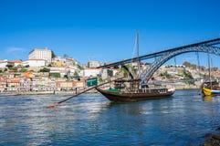 Typowe wino łodzie w Douro rzece Zdjęcie Royalty Free