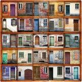 Typowego rocznika drewniani drzwi Zdjęcie Stock