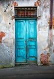 Typowego rocznika drewniany drzwi Fotografia Stock