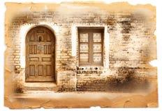 Typowego rocznika drewniany drzwi Obraz Stock