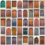 Typowego rocznika drzwi drewniany kolaż Zdjęcia Royalty Free