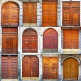 Typowego rocznika drzwi drewniany kolaż Fotografia Royalty Free