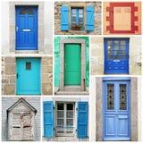 Typowego rocznika drzwi drewniany kolaż Obrazy Royalty Free