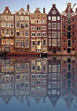 typowi Amsterdam domy Zdjęcie Stock