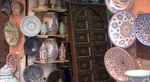 Typowi artefakty w alejach casbah Obraz Royalty Free