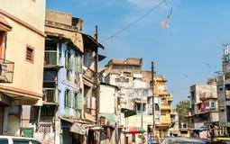 Typowi budynki w Ahmedabad, Gujarat -, India Obrazy Royalty Free