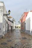 Typowi domy przy Faro, Portugalia Fotografia Royalty Free