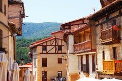 Typowi domy w Frias Burgos zdjęcie stock