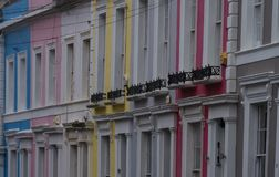Typowi domy w Portobello drodze Obraz Royalty Free