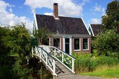 Typowi holenderów domy. Zaandam, Holandia Zdjęcie Royalty Free