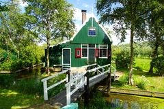 Typowi holenderów domy. Zaandam, Holandia Zdjęcia Stock