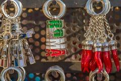 Typowi kluczowi pierścionki w Rzym, Włochy zdjęcia stock