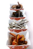 Typowi wysuszeni foods dla Japońskiego zupnego zapasu Obrazy Royalty Free