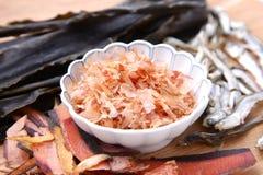 Typowi wysuszeni foods dla Japońskiego zupnego zapasu Obraz Royalty Free