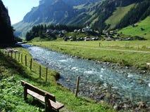 Typowo malownicza wysokogórska wioska, Urnerboden obrazy royalty free