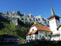Typowo malownicza wysokogórska wioska, Urnerboden obraz royalty free