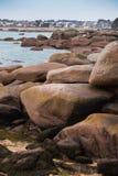 Typowy Brittany wybrzeże w północy Francja fotografia royalty free