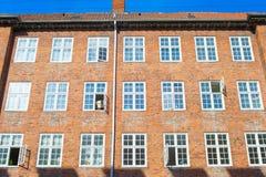 typowy budynek mieszkaniowy Kopenhaga Dani Obraz Stock