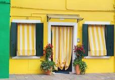 Typowy Burano dom. Obrazy Royalty Free