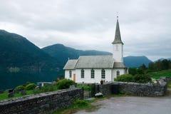 Typowy chrześcijaństwo kościół w Norwegia zdjęcie royalty free