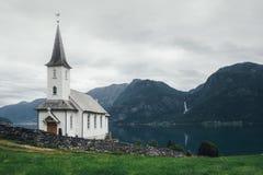 Typowy chrześcijaństwo kościół w Norwegia zdjęcia stock