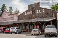 Typowy drewniany bar Zdjęcia Stock