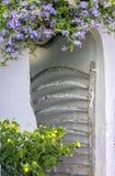 Typowy drewniany drzwi Menorca Fotografia Royalty Free