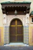 typowy drzwi moroccan Zdjęcia Royalty Free