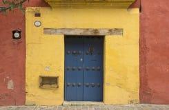 Typowy drzwiowy w centrum Oaxaca miasto Zdjęcie Royalty Free