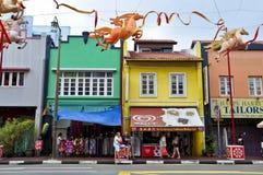 Typowy dzień w Chinatown, Singapur Obrazy Stock