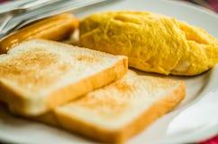 Typowy europejski śniadanie Zdjęcie Royalty Free