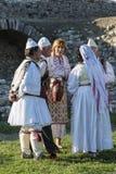 Typowy festiwal muzyki w Berat kasztelu w Albania Obrazy Royalty Free