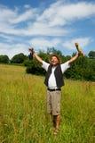 typowy francuski szczęśliwy mężczyzna Zdjęcia Royalty Free