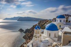 TYPOWY grek CHURC, SANTORINI obrazy stock
