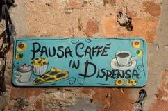 Typowy handmade karmowy signboard Obraz Royalty Free