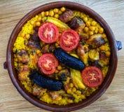 Typowy hiszpański jedzenie z ryż fotografia royalty free