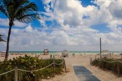 Typowy jesień dzień na południe plaży fotografia royalty free