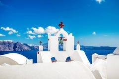 Typowy kościelny Santorini obrazy royalty free