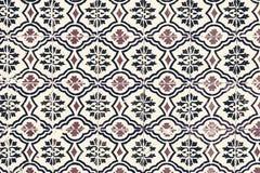 Typowy kolorowy Marokański ornamentacyjny ścienny tło - Lisbon, P Obraz Stock
