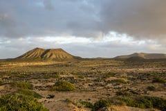 Typowy krajobraz Fuerteventura Zdjęcie Stock