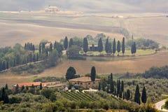 typowy krajobrazowy Tuscan Obrazy Royalty Free