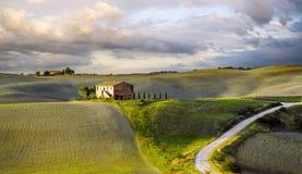typowy krajobrazowy Tuscany Fotografia Stock