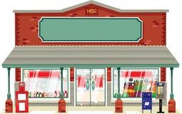 Typowy mały supermarket Zdjęcie Stock