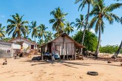 Typowy Madagascar dom w Nosatym Był Fotografia Stock