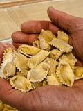 Typowy makaron Langhe: agnolotti Obrazy Royalty Free